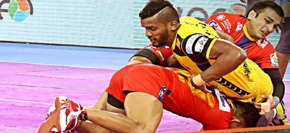 Pro Kabaddi League: Telugu Titans, UP Yoddha settle for a 'tie' (Image credit: Twitter/ProKabaddi)