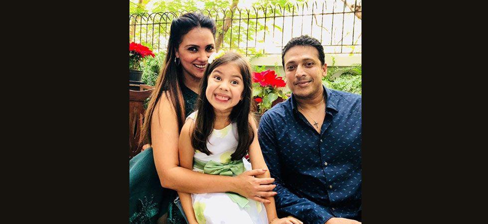 Lara Dutta with daughter Saira and husband Mahesh Bhupathi. (Image: Instagram)