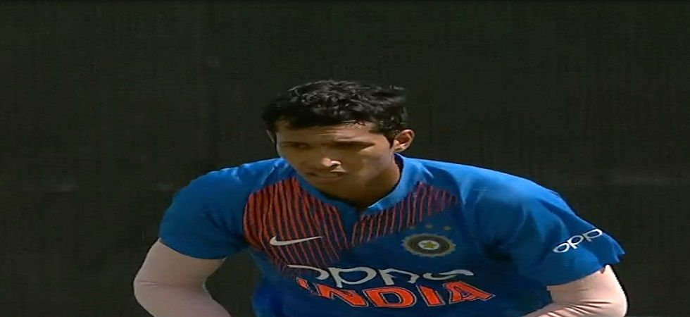 Navdeep Saini impressed on his debut for India as he picked up 3/17 against the West Indies. (Image credit: Twitter)