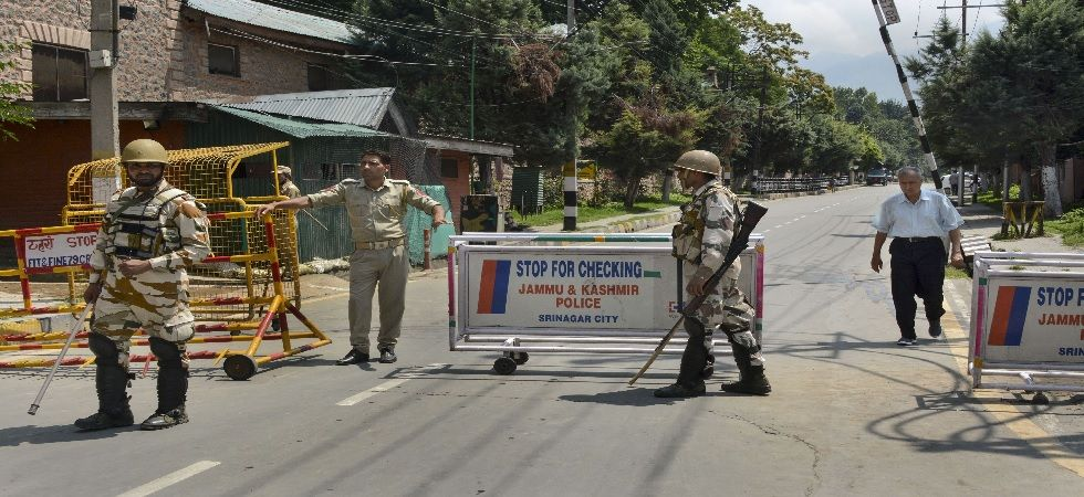 Ahead of the prayers, security forces have been put on high alert across the Kashmir Valley preempting possible protests against the scraping of special status (Photo: PTI)