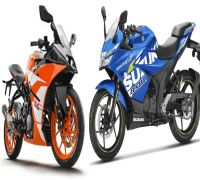 KTM RC 125 Vs Suzuki Gixxer SF 155: Comparison on basis of specifications, features, price