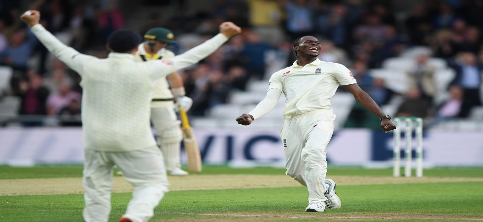 Jofra Archer's 6/45 saw Australia lose eight wickets for 43 runs to be bowled for 179 in the opening day of the Leeds Ashes Test. (Image credit: Getty Images)