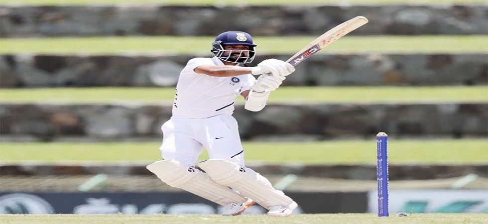 Ajinkya Rahane notched up his 18th fifty as India staged a recovery to 203/6 at the end of day one of the Antigua Test. (Image credit: Twitter)