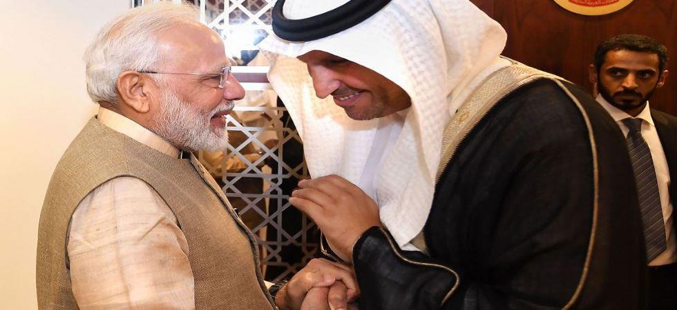 PM Modi with Abu Dhabi Crown Prince in UAE (Photo Source: PTI)