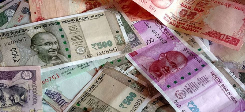 At the interbank foreign exchange on Tuesday, the rupee opened at 71.70, registering a rise of 32 paise over its previous close of 72.02