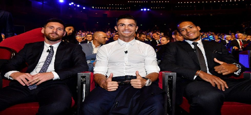 Cristiano Ronaldo praised Lionel Messi and saluted the contributions of the Argentinian during the UEFA Champions League draw. (Image credit: Twitter)