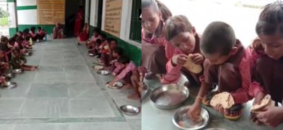 The video showed Students at primary government school in Mirzapur being served plain chapatis and salt. (File Photo)