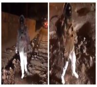 Desperate Time Calls For Creative Measures! Man Dressed As Astronaut Moonwalks On Potholes, WATCH