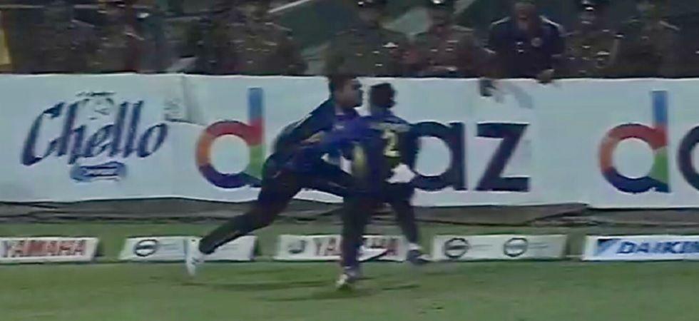 Shehan Jayasuriya, Kusal Mendis Collide Near Boundary During T20i Match Against Kiwis (Image credit; Twitter/BLACKCAPS)