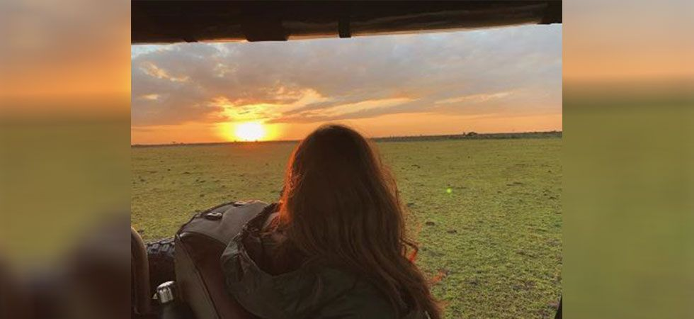 Alia Bhatt shared a beautiful picture of a sunset from her gateway. (Image: Instagram)