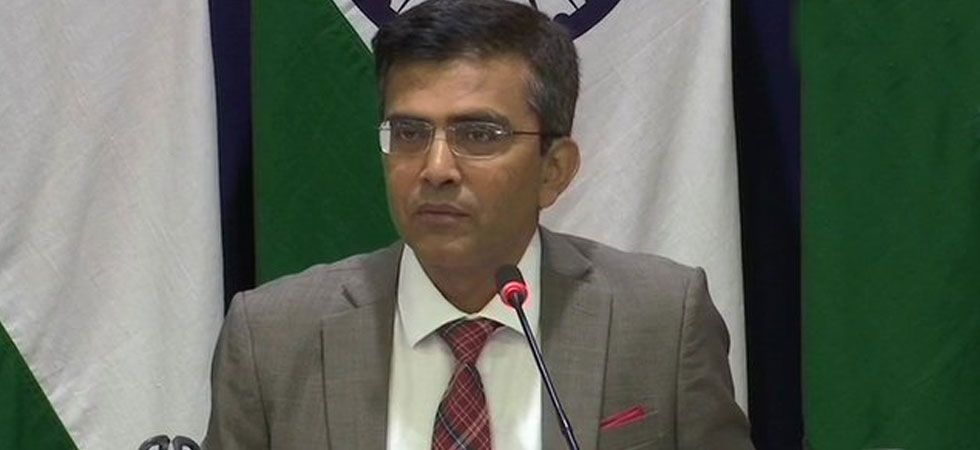 Ministry of External Affairs spokesperson Raveesh Kumar regretted Pakistan's decision. (Image Credit: ANI)