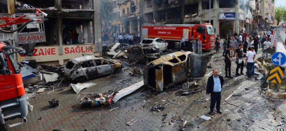 Car bomb blast in Northern Syria (Photo Credit: Twitter)