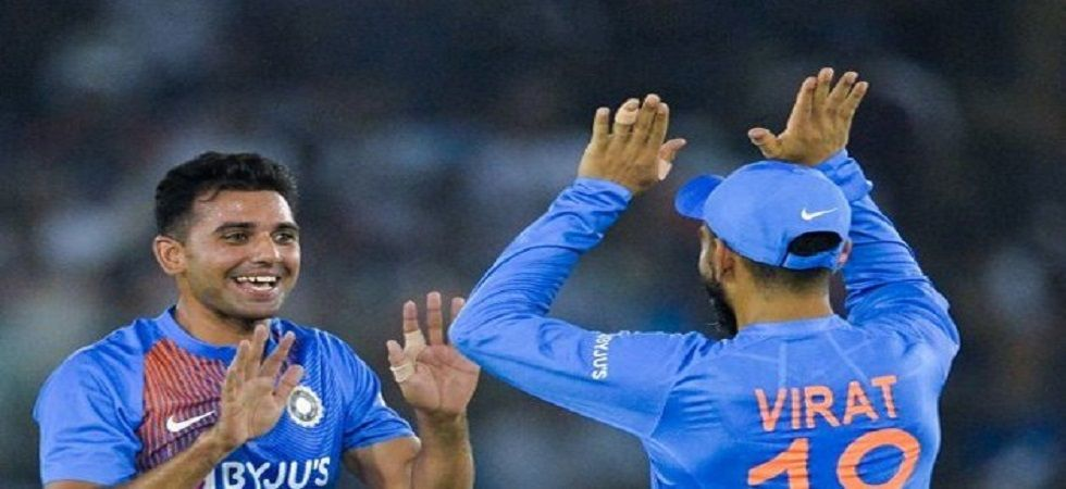 Deepak Chahar picked up the wickets of Reeza Hendricks and Temba Bavuma in India's win over South Africa. (Image credit: Twitter)
