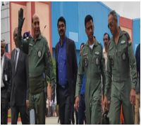 Rajnath Singh Takes Flight In Tejas, First Defence Minister To Fly In Home-Grown Fighter Aircraft