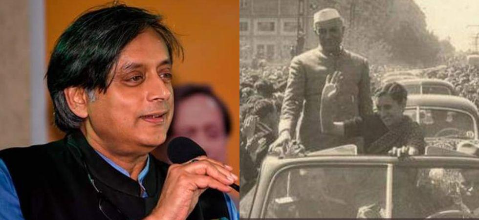 Shashi Tharoor had shared a picture of Jawaharlal Nehru and Indira Gandhi on Twitter (Image: PTI/Twitter)