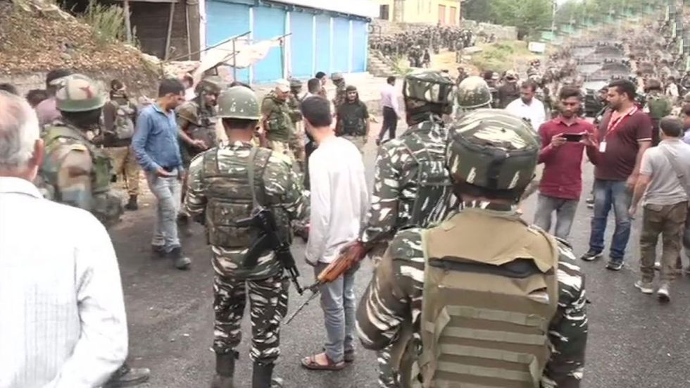 Earlier, a police spokesman said that they had information about the presence of five terrorist. (Image Credit: ANI)