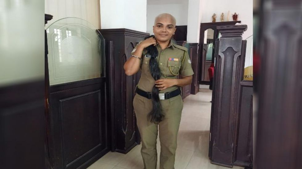 Kerala policewoman Aparna Lavakumar (Photo Source: Twitter)