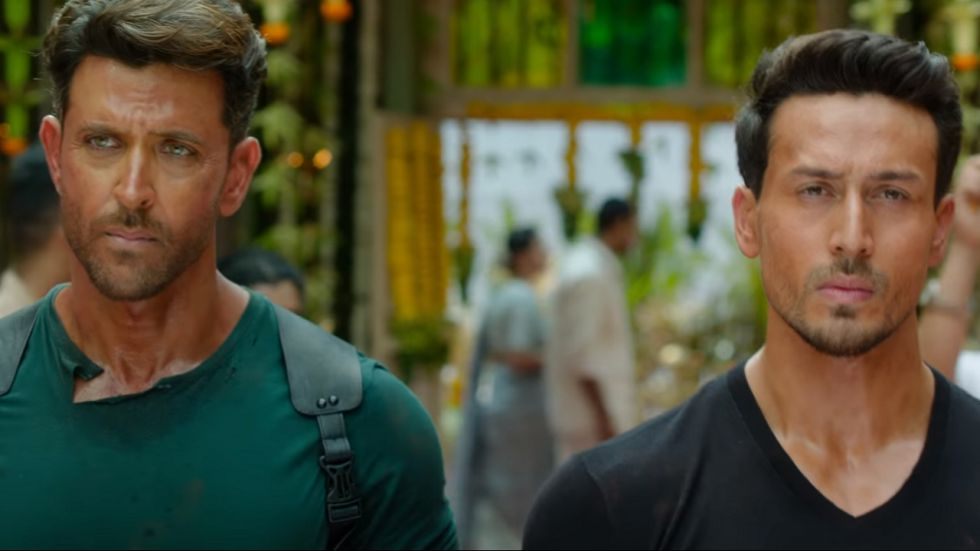 Hrithik Roshan and Tiger Shroff in War. (Image: Twitter)