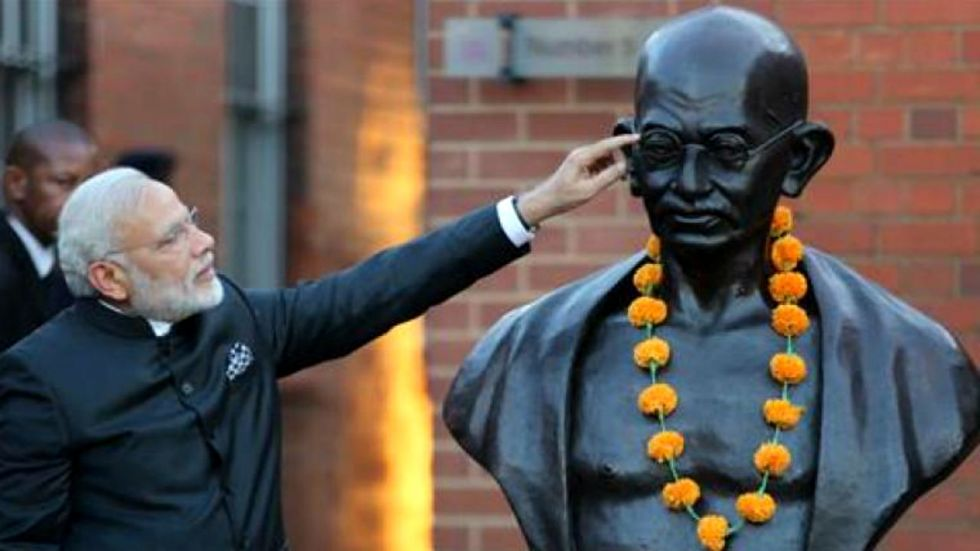 PM Modi wrote a column titled 'Why India and the World Need Gandhi' in The New York Times (Image: )