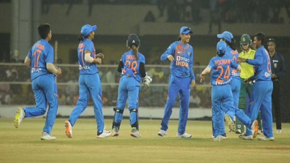 Shafali Verma and Poonam Yadav helped India take an unassailable 2-0 lead in the five-match series by winning the fourth match. (Image credit: Twitter)