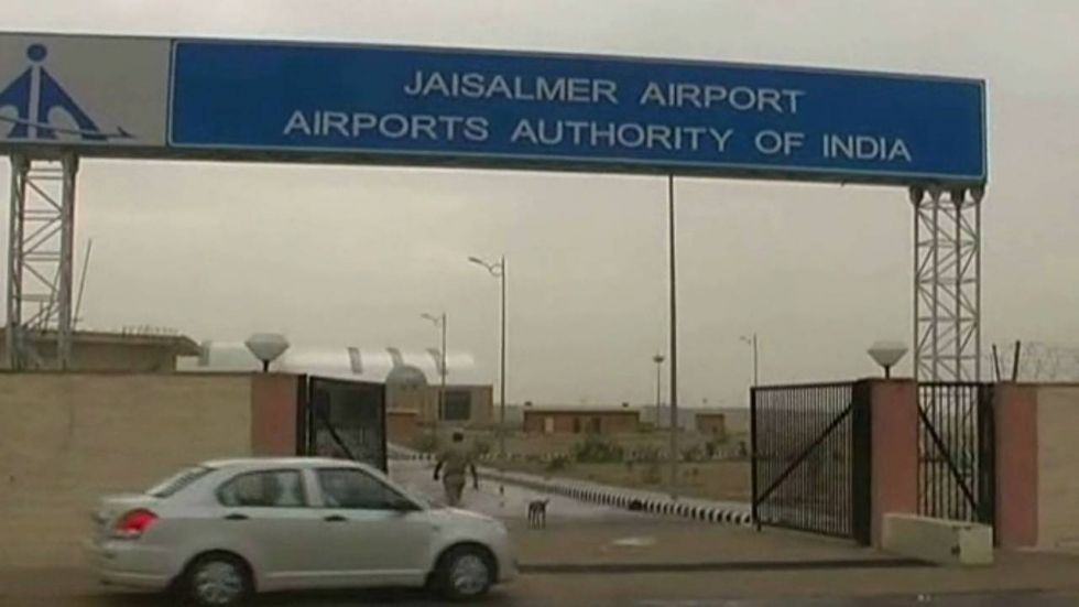 Jaisalmer airport has been put on high alert with increased manpower