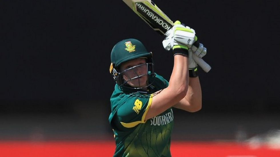 Lizelle Lee smashed 84 and shared an opening partnership of 144 as South Africa ended the series on a high with a 105-run win.