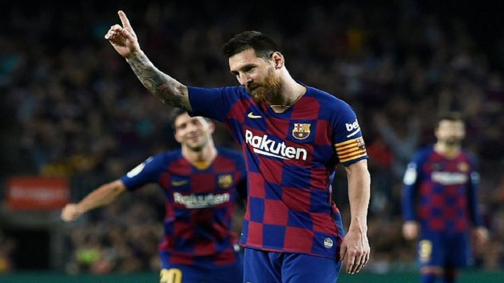 Lionel Messi scored for the first time in the La Liga season as Barcelona thrashed Sevilla 4-0 to move to second spot in the table.