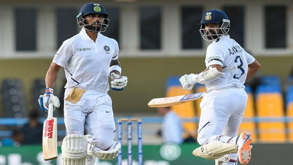 Virat Kohli notched up his 23rd fifty after Mayank Agarwal slammed his second century in the Pune Test against South Africa.