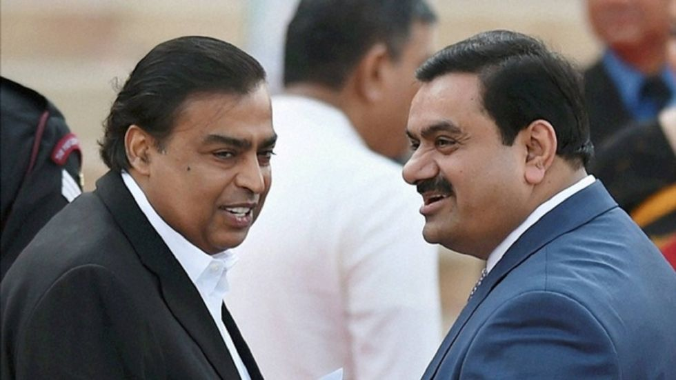 Mukesh Ambani and Gautam Adani