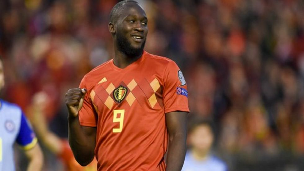 Romelu Lukaku became the first Belgian player to score 50 international goals as they thrashed San Marino 9-0 to become the first side to enter the Euro 2020 tournament.
