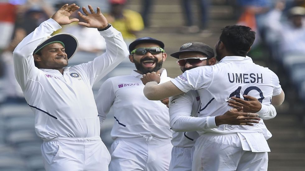 India have a 326-run lead after Ravichandran Ashwin took four wickets despite a 109-run stand for the ninth wicket between Keshav Maharaj and Vernon Philander.