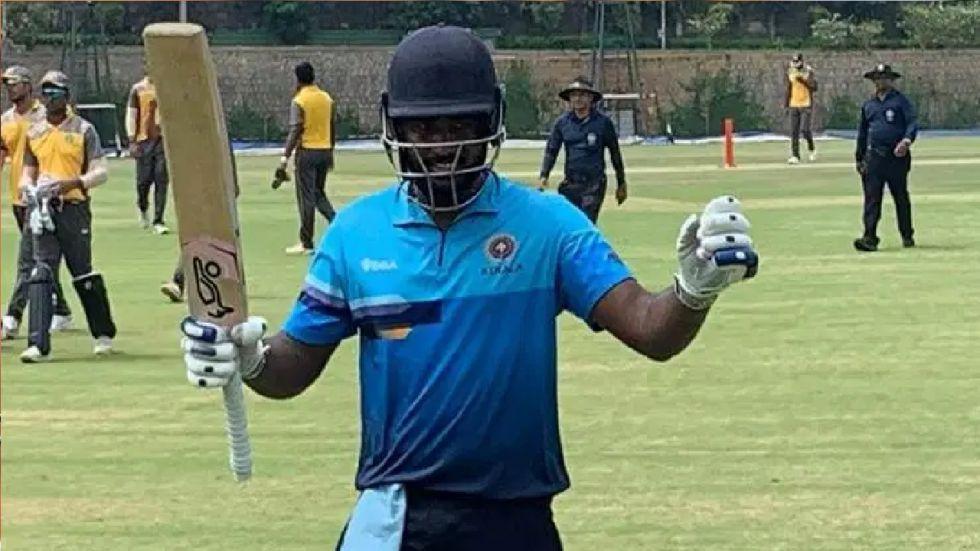 Kerala wicket keeper-batsman Sanju Samson scored 212 off just 129 balls.