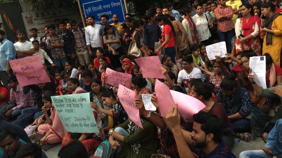 DSSSB Teachers Appointment Put On Hold, Protest Follows At EDMC Headquarter