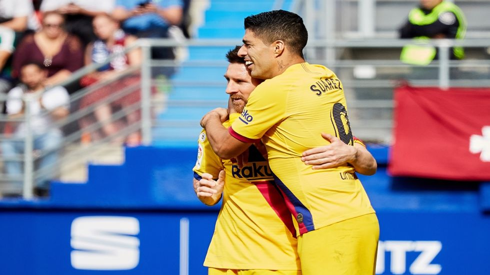 Lionel Messi and Luis Suarez were dominant while Antoine Griezmann scored his fourth goal for FC Barcelona in the La Liga.