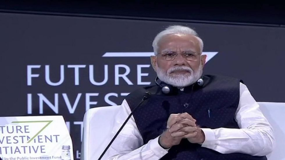 Prime Minister Narendra Modi at the Future Investment Initiative 2019 in Riyadh.