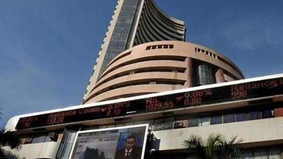 The broader NSE Nifty too advanced 33.35 points, or 0.28 per cent, to close at 11,877.45.