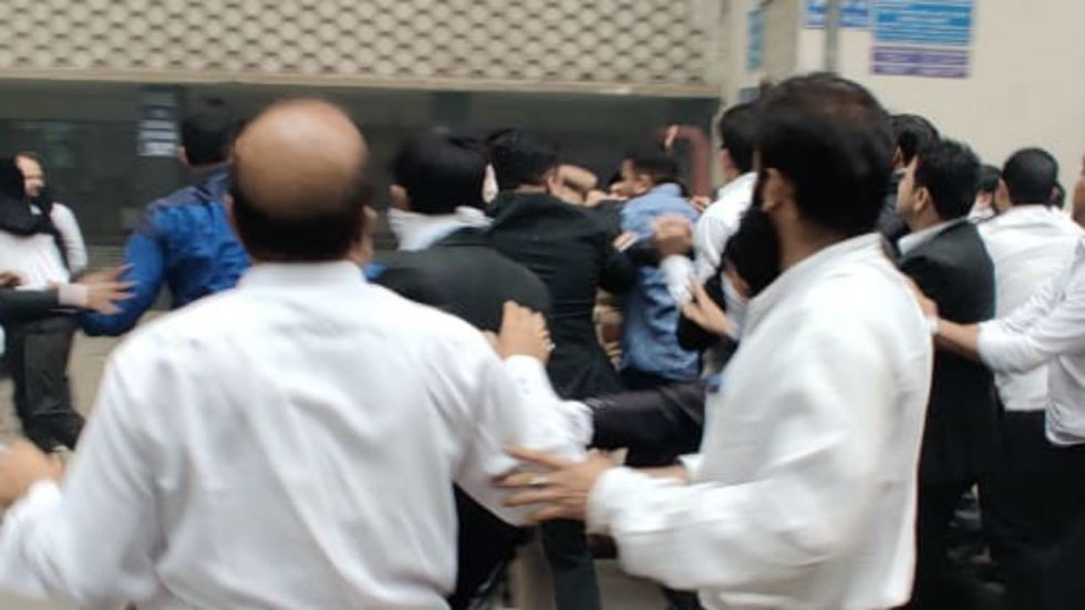 Lawyers and police had clashed at Tis Hazari Court complex here on Saturday