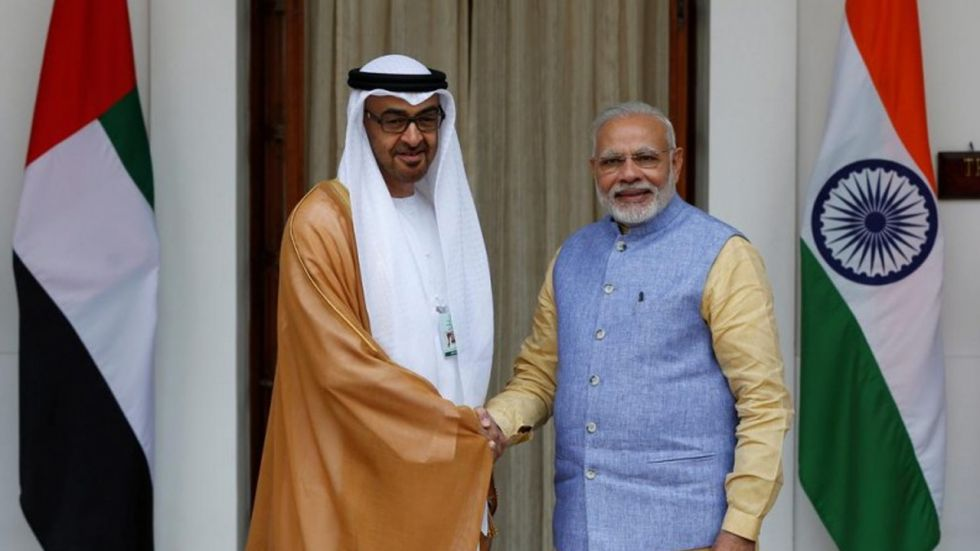 PM Modi with Sheikh Khalifa bin Zayed Al Nahyan