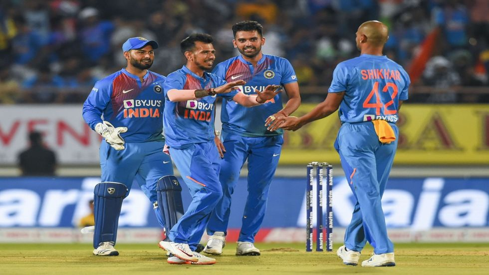 Yuzvendra Chahal took the wickets of Mushfiqur Rahim and Soumya Sarkar as India defeated Bangladesh by eight wickets to level the series 1-1.