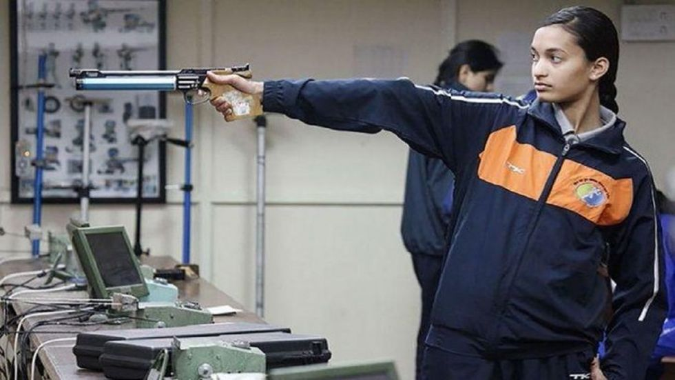 Chinki Yadav finished a creditable second in the qualifications of women's 25m pistol event at the Lusail Shooting Range.