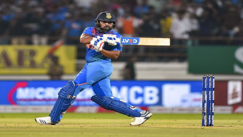 Rohit Sharma put up a fabulous performance in his 100th Twenty20 International as India won by eight wickets to level the three-match series 1-1.