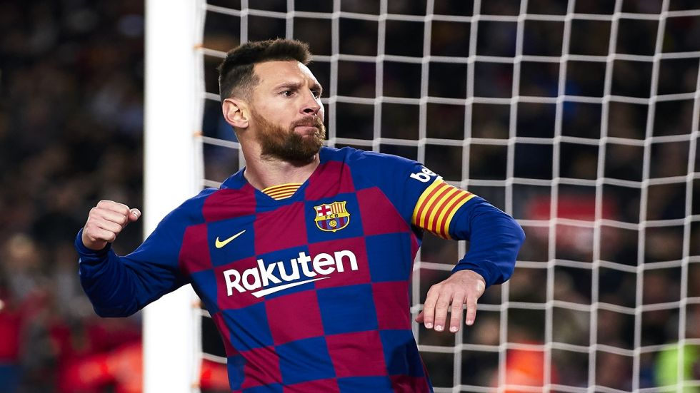 A 34th treble in La Liga puts Lionel Messi equal with Cristiano Ronaldo, while a much-needed win sends Barcelona above Real Madrid on goal difference and back to the top of the table at the end of a testing week