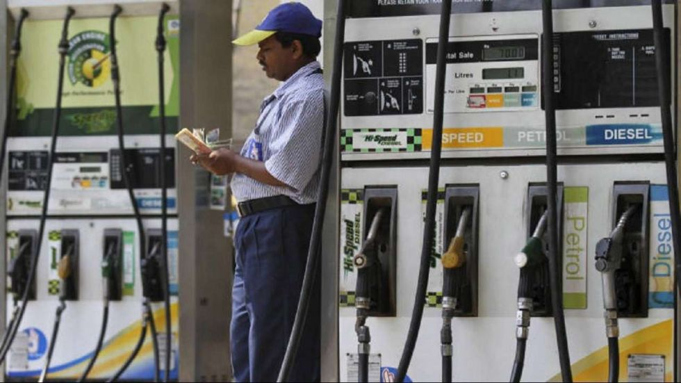 Petrol prices went up for the third straight day on Sunday