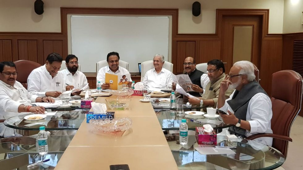 Congress, NCP, Shiv Sena are planning to enter into an alliance to form a government in Maharashtra.