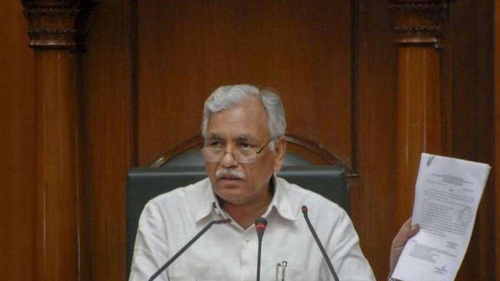 Delhi Assembly Speaker Ram Niwas Goel
