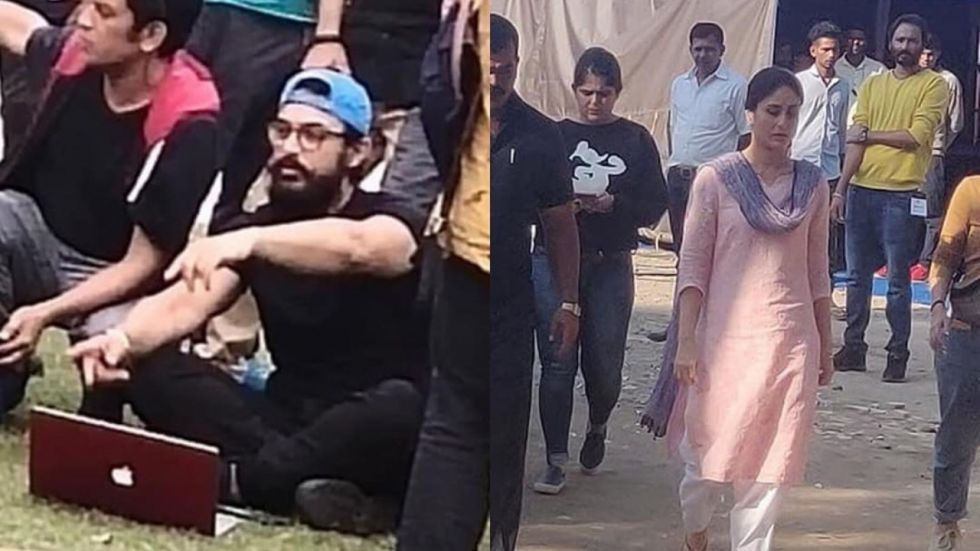 Aamir Khan and Kareena Kapoor on sets of Laal Singh Chaddha.