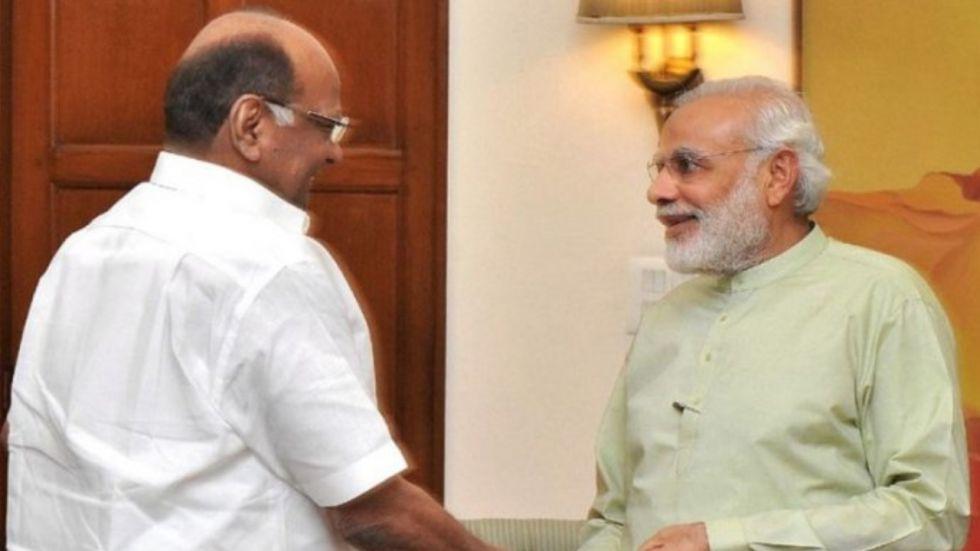 NCP Chief Sharad Pawar meets PM Narendra Modi