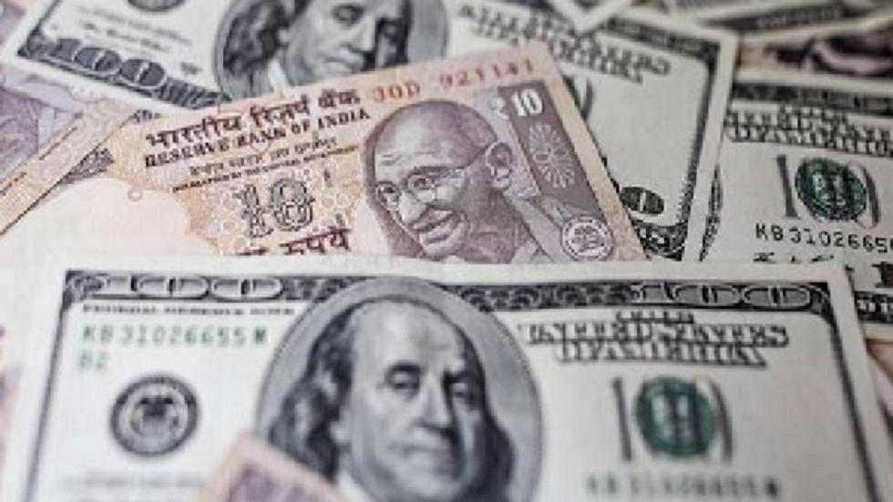 The Indian rupee opened on a cautious note and fell 8 paise to 71.89 against the US dollar in early trade on Thursday.
