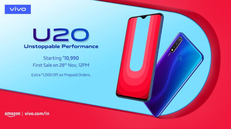 Vivo U20 Goes Official In India