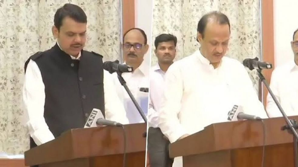 BJP's Devendra Fadnavis and NCP's Ajit Pawar took oath as chief minister and deputy chief minister of Maharashtra after the President's rule was revoked.